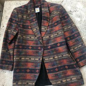 Lovely oversize Vintage Pattern Sports Coat Blazer